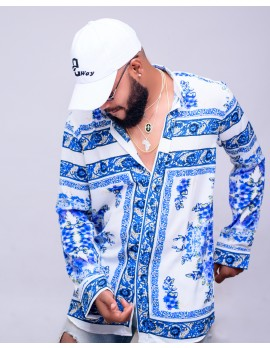 ELAN SIGNATURE - LUXURY FLORAL SILK LONG SLEEVE MEN'S  SHIRT