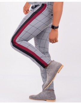 ELAN - CHECK SLIM-FIT PANT ASH