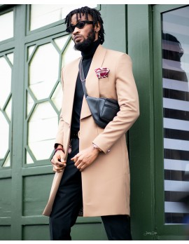 ELAN SIGNATURE -OVERCOAT IN CAMEL
