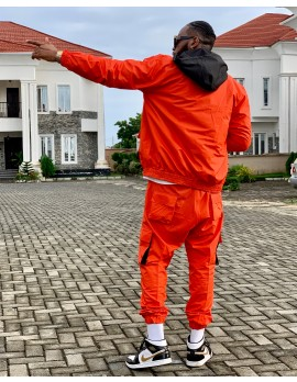 ALPHA - HOODED TRACKSUIT IN ORANGE ( Co-ordered)