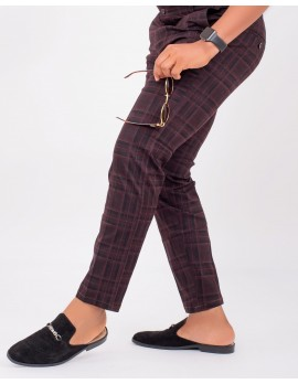 ELAN - CHECKERED SLIM-FIT CHINOS