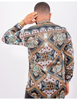 ELAN -GOLDEN UNION SILK LONG SLEEVE SHIRT