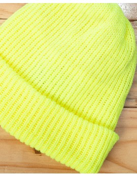 ELAN SIGNATURE - RIBBED KNIT NEON BEANIE HAT