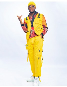 ELAN SIGNATURE -  CO-ORDERED UTILITY GILET AND CARGO PANT IN YELLOW