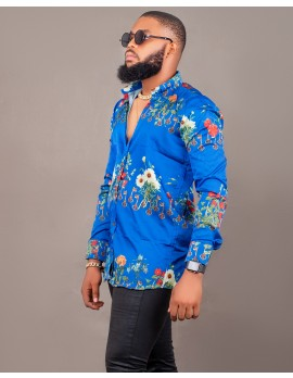 ELAN - ROYAL KEYS SILK LONG SLEEVE SHIRT