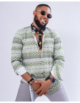 ELAN AZTEC GREEN LONG SLEEVE  SHIRT