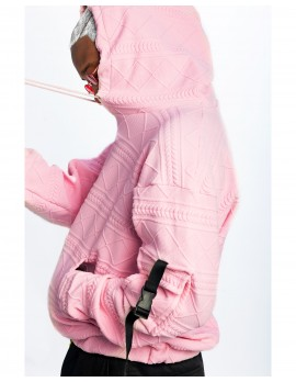 ELAN SIGNATURE -OVER-SIZED  DRAWSTRING HOODIE IN PINK